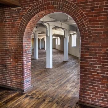 bricked open door