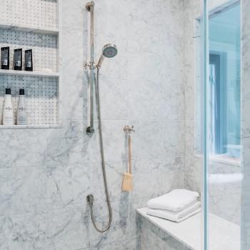 Custom shower niche