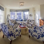 upholstered chairs in sitting room