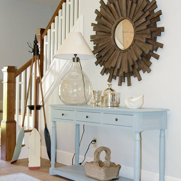 entry hall server and mirror