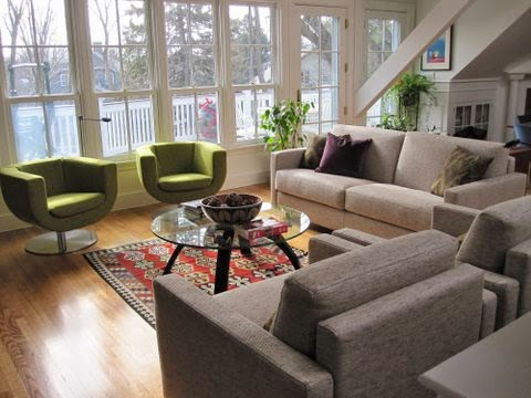 living room with darker tones in Natick MA