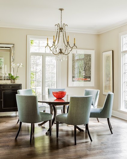 dining room interior design in Westwood MA