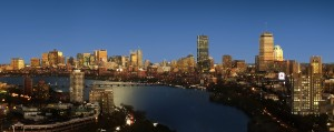 Boston view at night